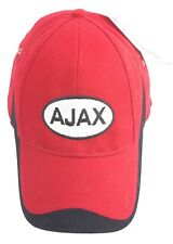 Red Black White Ball Cap Hat AJAX Logo NEW With Tags!