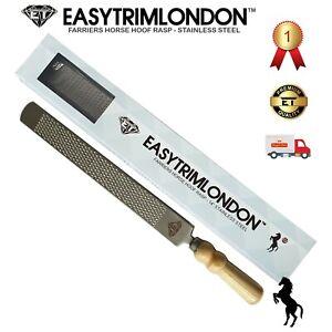 Hoof Rasp Farriers Horse Tools 14 inch EASYTRIMLONDON Chromium Stainless Steel