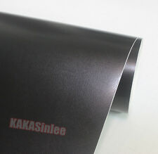 "12"" x 60"" Car Grain Leather Skin Textured Vinyl Wrap Sticker Interior Black - CF"