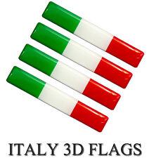4 SILIKON AUFKLEBER AUTO MOTO HANDY LAPTOP TABLET FAHRRAD ITALIEN FLAGGE I