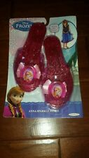 New Disney Frozen Anna Sparkle Slippers Shoes Pink