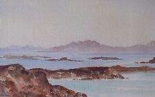 Francis Russell Flint (1915-1977) Coastal Landscape Watercolour Painting