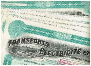 Set 5 Transports Electricite et Gaz...1929, VF-VF minus