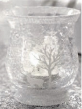 7c76be00b6bdde Renne Frosty Forest Scene Verre Thé Light bougeoir décoration de Noël