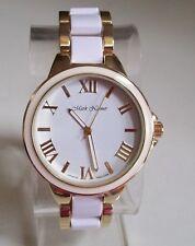 Women's Fashion Designer Gold/White Finish Boyfriend Dressy Wrist Watch
