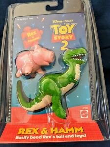 Toy Story 2 Hamm and Bendy Rex  Figures in sealed pack