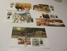 1987 THE MAN FROM SNOWY RIVER STAMP MAXI CARDS SET OF 5