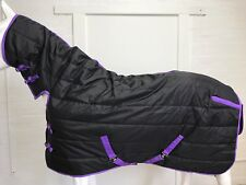 AXIOM 1800D BLACK STABLE 300g COMBO HORSE RUG - 6' 3