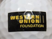 (1) WESTERN UNION BANK MONEY TRANSFER LOGO GOLF BALL