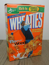 Vintage Wheaties Cereal w/Tiger Woods 1999 PGA POY 12 Oz Full Box Factory Sealed