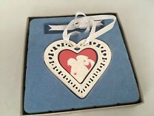 Wedgwood 1st First Christmas Together Ornament 2007 Heart Porcelain