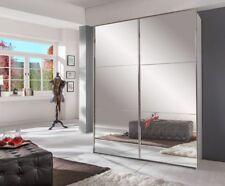 """Schwebetürenschrank """"Rubino Small"""" Schlafzimmer Weiß 2 Spiegeltüren 200x236x65"""