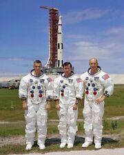 Apollo 10 Crew W / Saturn V Rakete 8x10 Silber Halogen Fotodruck