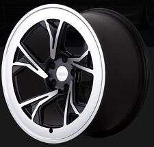 19X8.5/10 Radi8 C5 5x112 +45/42 Black Machined Rims Fits Mederces C350 2012+