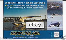 KENMORE AIR SEATTLE SEAPLANE AIRLINES D/H BEAVER  SEATTLE LAKE UNION AD