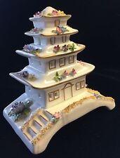 Coalport Pagoda House Collectible Cottages Fine Bone China Pastille Burner
