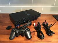 Sony Original Black Playstation 2 Games Console Complete set-up Bundle PS2