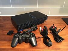 Sony Original Black Playstation 2 Games Console Complete set-up Bundle PS2
