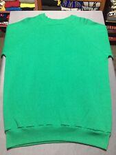Vintage Blank Crewneck Sweatshirt 80s Pannill 2XL XXL Green Raglan New Made USA