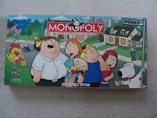 MONOPOLY TV CARTOON The Family Guy SPECIAL COLLECTORS EDITION Board Game