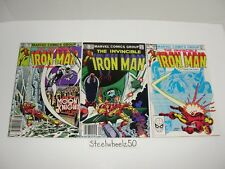 Iron Man #161 162 & 166 Comic Lot Marvel 1982 Moon Knight 1st Full Obadiah Stane