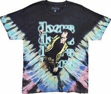 Men's The Doors Jim Morrison Black Tie Dye Retro Vintage Rock Band T-Shirt Tee