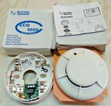 ECO 1003 Photoelectric Optical Smoke Detector & ECO 1000 Relay Base Ref 412884