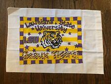 "LSU Louisiana State Tigers University Pillowcase 20"" x 25"" NEW Geaux Tigers!"