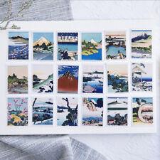 Mini Japanese Ukiyoe Landscape illustration Scrapbooking Stickers Decorative