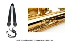 Tracolla Rico SJA11 per sax contralto e soprano con gancio metallico ricurvo
