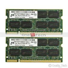 New 4GB 2X2GB PC2-6400S 6400 DDR2-800 800Mhz 200pin Memory For IBM ThinkPad T61