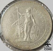 1900-B Great Britain Trade Dollar Silver .900 Coin KM#T5