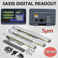 2AXIS/3AXIS MILL DIGITAL READOUT DRO DISPLAY,TTL LINEAR SCALE ENCODER SET, 2YEAR
