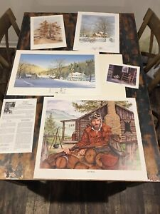 Lot Of 5 Richard Tumbleston Signed Lithographs