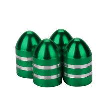 Lot de 4 bouchons de valve en aluminium balle munition vert - Auto, Moto, Vélo