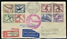 "GERMANY 1936 Used, Cover, Complete Set, ""Summer Olympics"" Special Cancel  X-Fine"