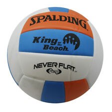Spalding King of the Beach Volley Ball White, Orange and Blue Outdoor Play New