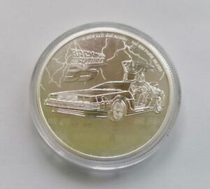 2 $ Dollars Niue 2020 Back to the Future - Zukunft 1 Unze 999er Silber PP Proof