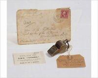 NEW PRODUCT! Titanic 3rd Officer Herbert Pittman's Whistle, replica includes COA