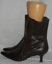 ANNAPELLE Brown All Leather/Suede Ankle Boots (Size 11)