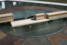 "S gauge handmade (USA)  freight platform 11"" for American Flyer and others"