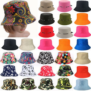 Ladies Unisex Bucket Boonie Casual Beach Hot Hats Fishing Camping Outdoor Caps