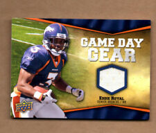 2009 Upper Deck Game Day Gear #ER Eddie Royal Denver Broncos