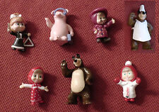 8 toys figures dolls Masha and Bear from Kinder Surprise eggs for birthday cakes