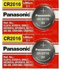 2 x PANASONIC CR 2016 CR2016 CR-2016 LITHIUM COIN CELL Button Battery Exp 2030