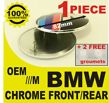 tapa llantas Capó rear front M power BMW7 82mm 2 pernos  cromo espejo prata