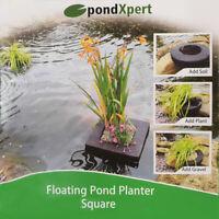 PondXpert Floating Pond Planter Square Plant Island Basket Aquatic Lily 25 x 25c