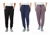 New Womens Fila Jogger Sweatpants Cozy Black Navy Blue Purple Choose Size Color