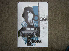 "OPEL Heavy Steel & Porcelain Enamel Vintage advertisement Sign 23""x16"" NICE"