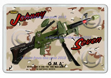 JOHNNY SEVEN OMA ( I HAD ONE OF THESE ) ART NEW JUMBO FRIDGE LOCKER MAGNET V3